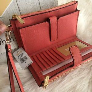 💖New Mk double Zipper Wallet -clutch -Phone Case